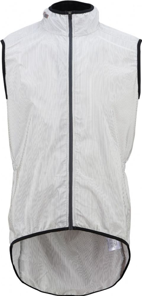 Café Du Cycliste Men's Madeleine Superlight Windstopper Gilet - Stripes